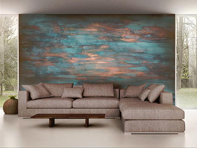 Pittura decorativa Verderame Wall Painting - soggiorno - AERREe