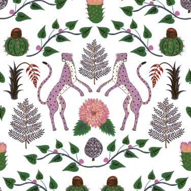 Carta da parati Cheetah Rosa 5900045 - Anima Coordonne - AERREe