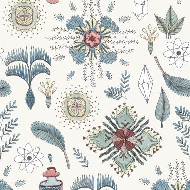 Carta da parati Micro Cosmos Azzurro 5900049 - Anima Coordonne - AERREe