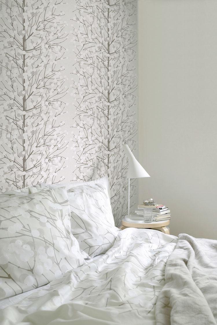 AERREe - Carta da parati Marimekko Essential 13022 Lumimarja - camera letto