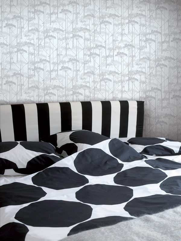 AERREe - Carta da parati Marimekko Essential 14152 Putkinotko - camera letto