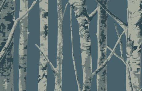 Carta da parati Eco Chic 2 - alberi EC50002 - AERREe