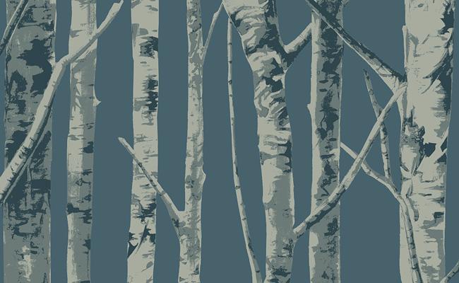 Carta da parati eco chic ii moderna acrilica aerree for Carta da parati alberi stilizzati