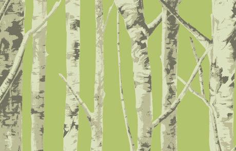 Carta da parati Eco Chic 2 - alberi EC50004 - AERREe