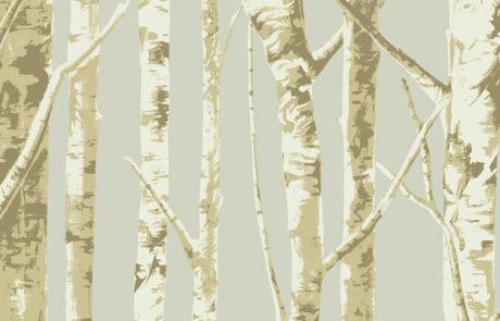 Carta da parati Eco Chic 2 - alberi EC50005 - AERREe