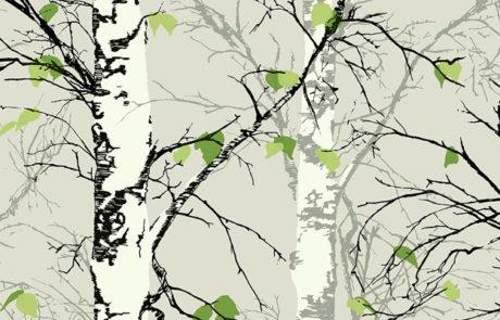 Carta da parati Eco Chic 2 - alberi EC52202 - AERREe
