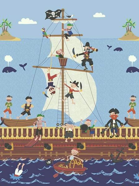 Carta da parati Pannello Pirati KJ50902M - AERREe