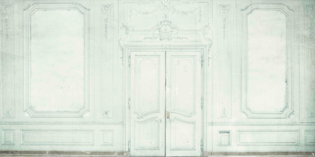 Pannello murale decorativo Stampa digitale Boiserie verde - AERREe