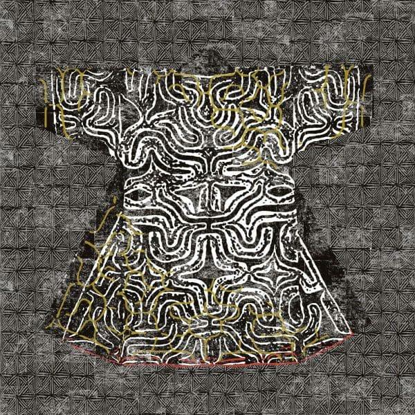 Carta da parati Elitis Kimono Domino dettaglio 2 AERREe