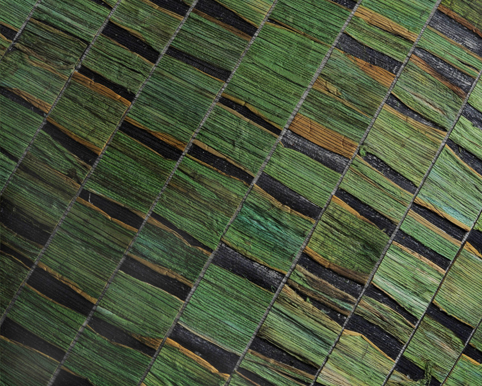 Carta da parati foglie di ninfea Omexco Nomad 32933 NOA1 dettaglio AERREe