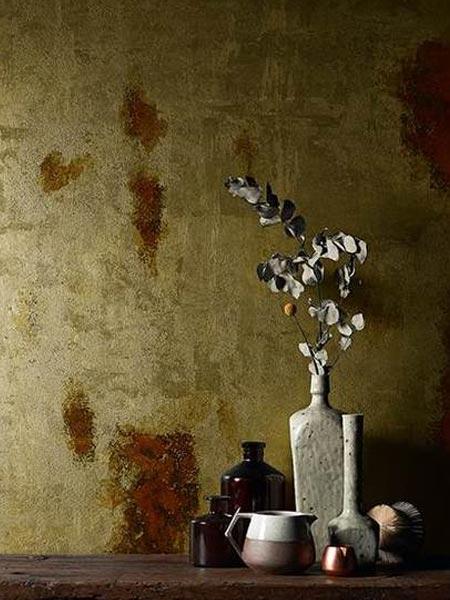 pittura metallica Zeus oro ambientazione