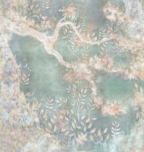 Carta da parati pesco in fiore giapponese Texam home Kata Momo KAD106 AERREe