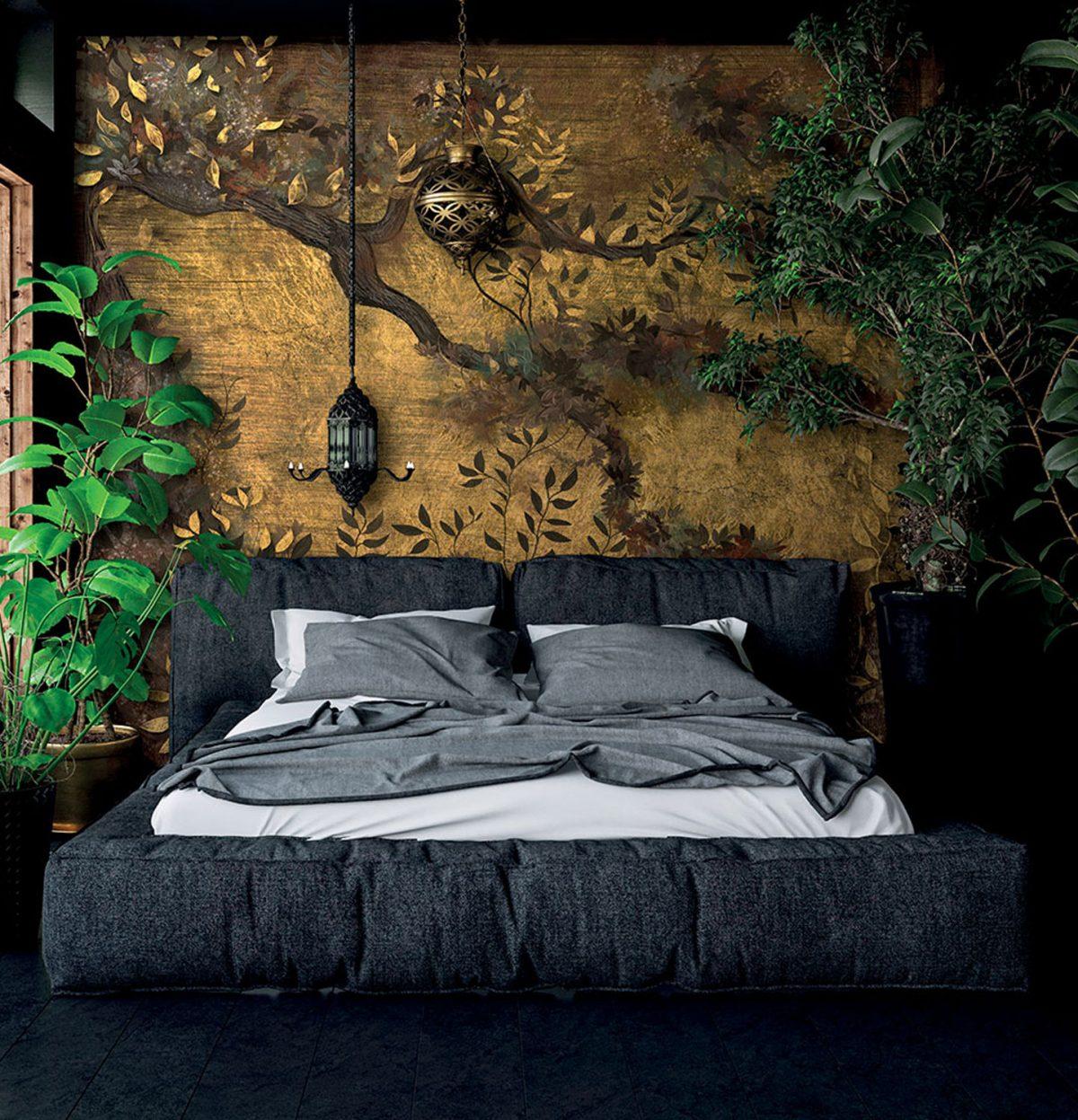 Ambientazione pannello murale Texam Home Raw Breeze