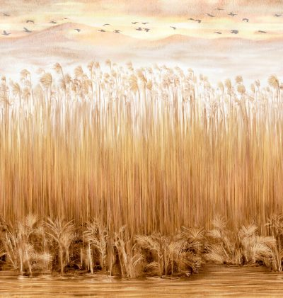 Carta da parati piante riso giapponese Texam home Kata Komo KAD506 AERREe
