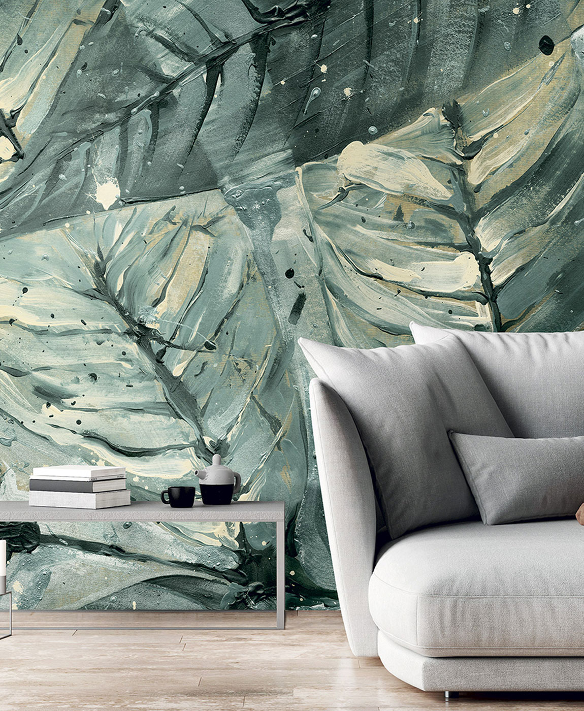 Ambientazione pannello murale Texam Home Raw Breeze