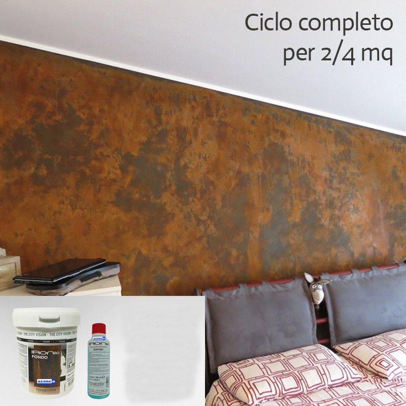 Pittura Bronzo Per Pareti.Pittura Effetto Ruggine Pitture Decorative Ironic Novacolor