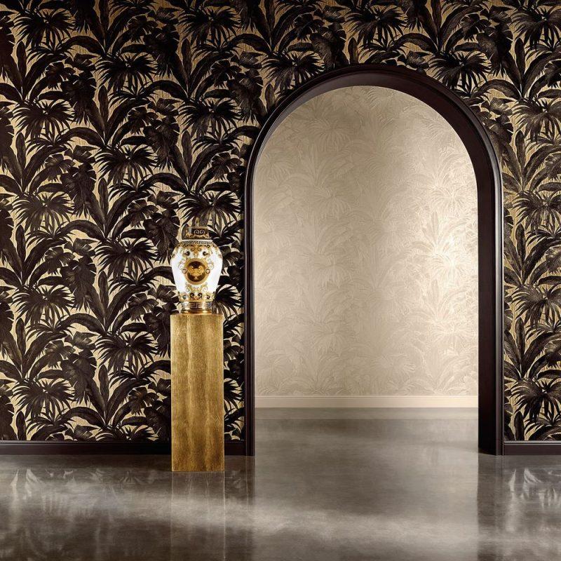 Carta da parati Versace Home 2 Giungla 96240-1G ambientazione AERREe
