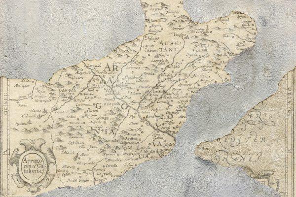 Carta da parati mappa antica Coordonne broken map 6500105 AERREe