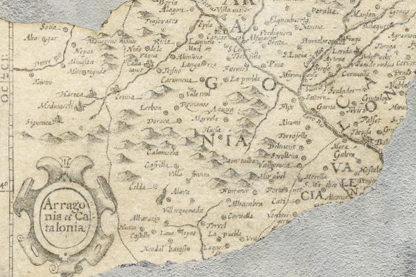 Carta da parati mappa antica Coordonne broken map 6500105 dettaglio AERREe