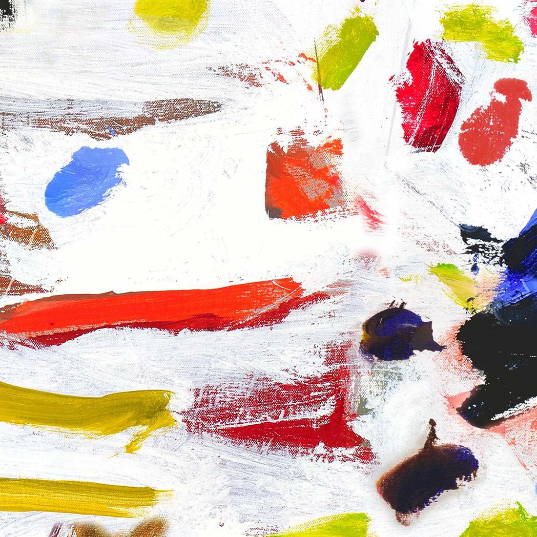 Carta da parati contemporanea Pierre Frey Les Dessins 2 Arty Multicolor FP444001 ambientazione AERREe