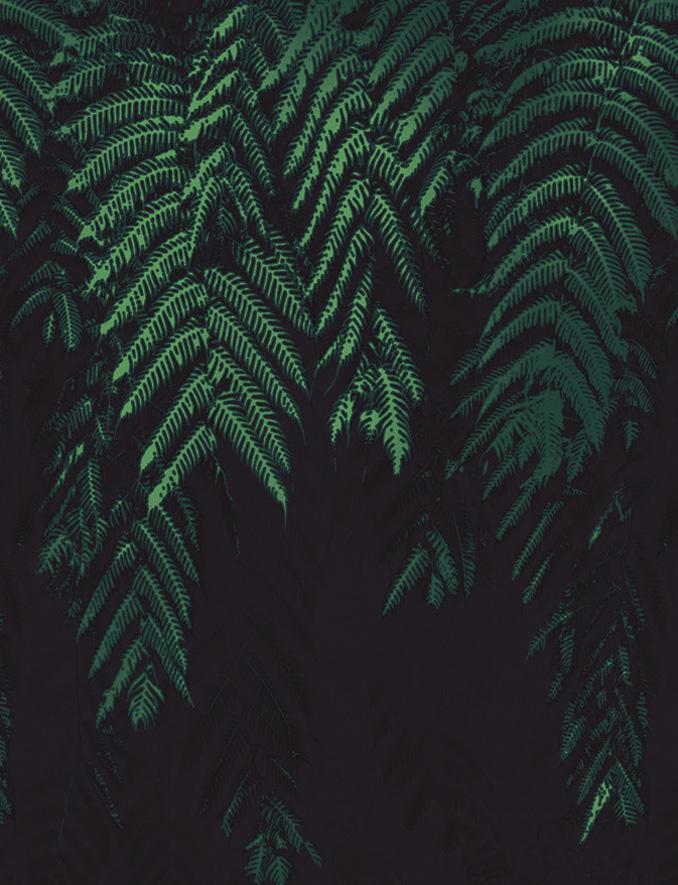 Carta da parati foglie e piante Limonta Pix-Art Brushwood Flora e Fauna dettaglio AERREe