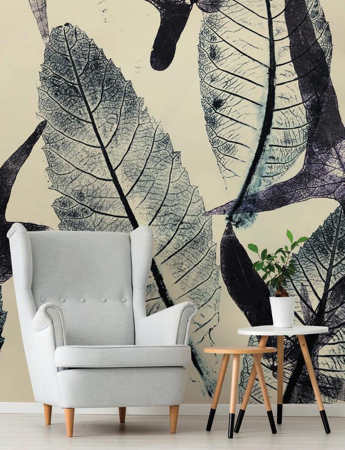 Carta da parati foglie e piante Limonta Pix-Art Passy Flora e Fauna AERREe