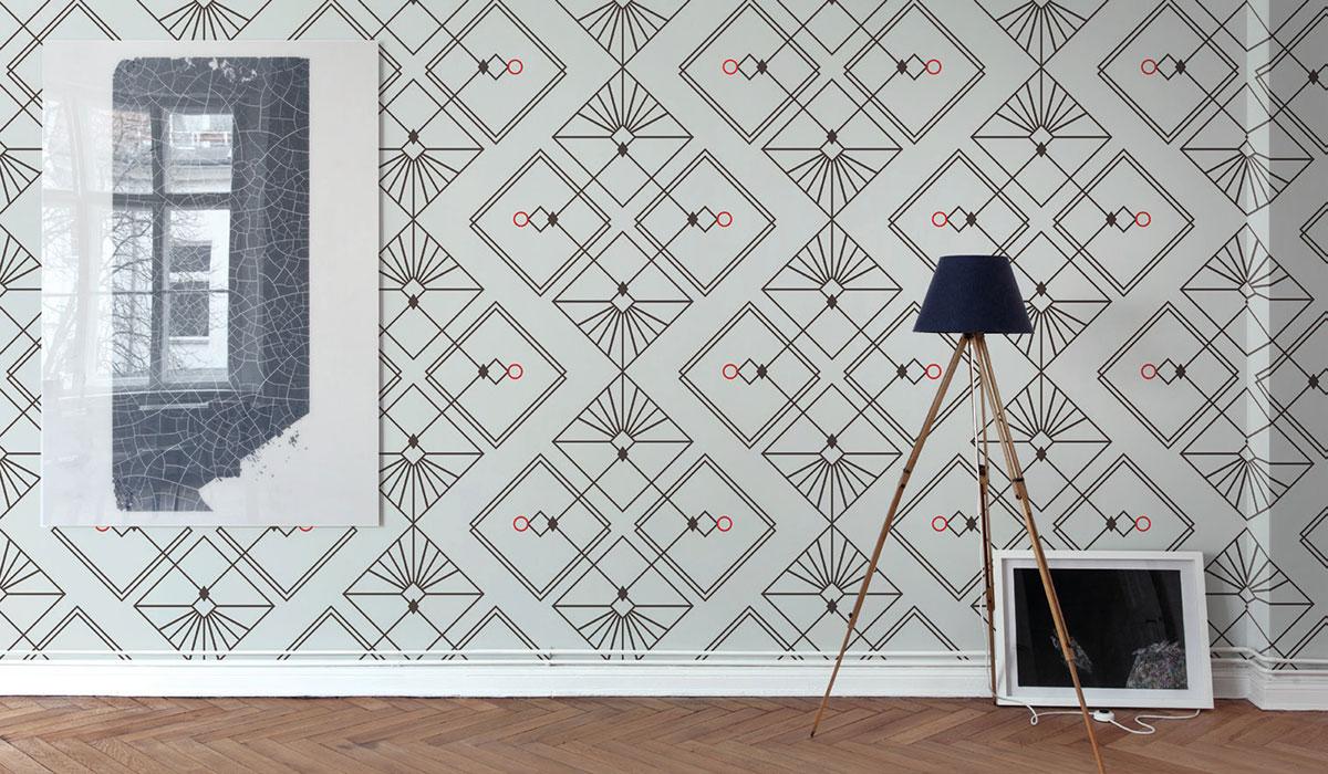 Carta da parati geometrie Limonta Pix-Art geometrie incontri ambientazione AERREe