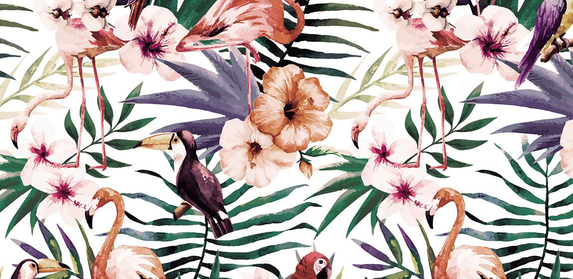 Carta da parati tropicale Armonia Multicolor Limonta AERREe