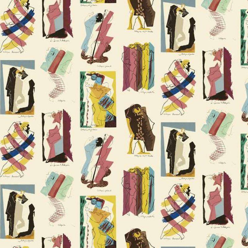 Carta da parati vintage Pierre Frey Les Dessins 2 Arlequins dettaglio AERREe