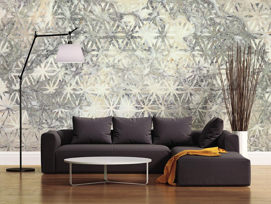 Carta da parati effetto materia Limonta Pix-Art Materia Marble 9 ambientazione AERREe