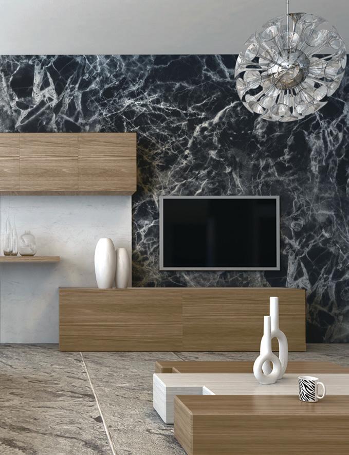 Carta da parati effetto materia Limonta Pix-Art Materia Marble2 ambientazione AERREe
