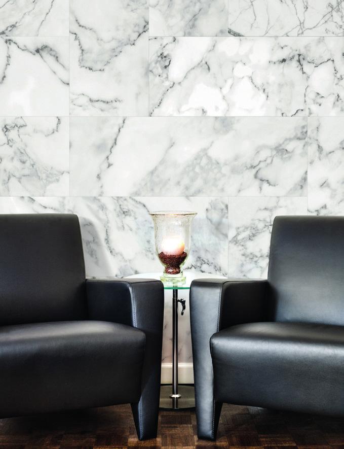 Carta da parati effetto materia Limonta Pix-Art Materia Marble5 ambientazione AERREe