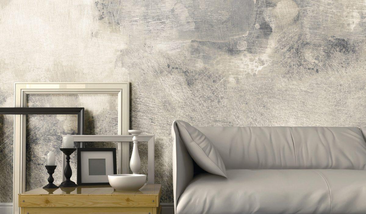 Carta da parati effetto materia Limonta Pix-Art Materia Muro grunge ambientazione AERREe