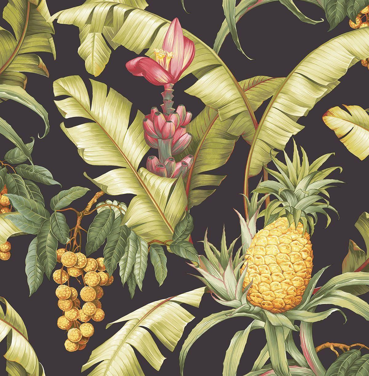 Carta da parati ananas Wallquest Pineapple Floral Maui Maui TP80000 AERREe