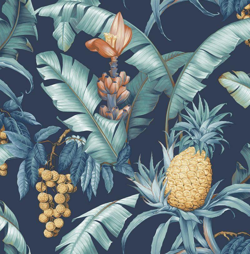 Carta da parati ananas Wallquest Pineapple Floral Maui Maui TP80002 AERREe