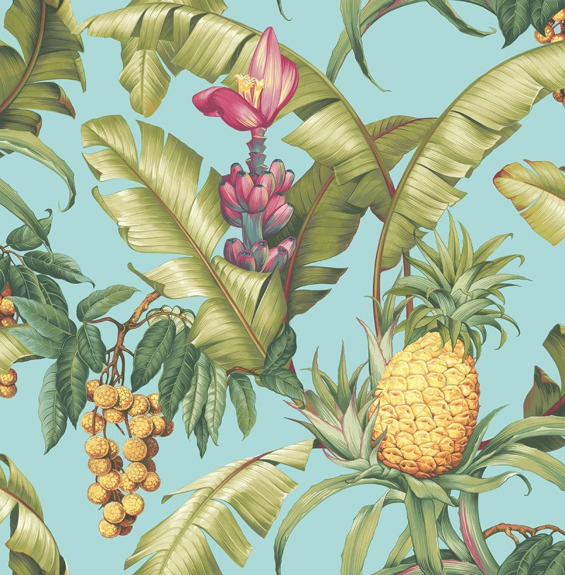 Carta da parati ananas Wallquest Pineapple Floral Maui Maui TP80004 AERREe