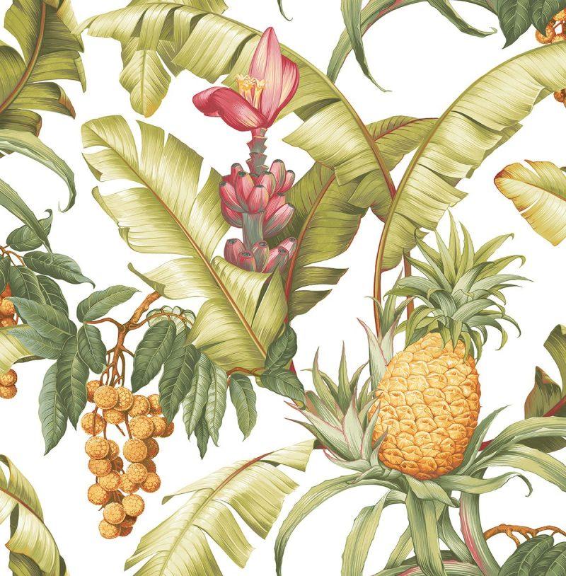 Carta da parati ananas Wallquest Pineapple Floral Maui Maui TP80005 AERREe