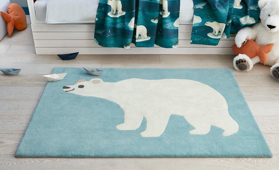 Tappeto per bambini Orso polare Villanova Artic Bear Rug ambientazione AERREe