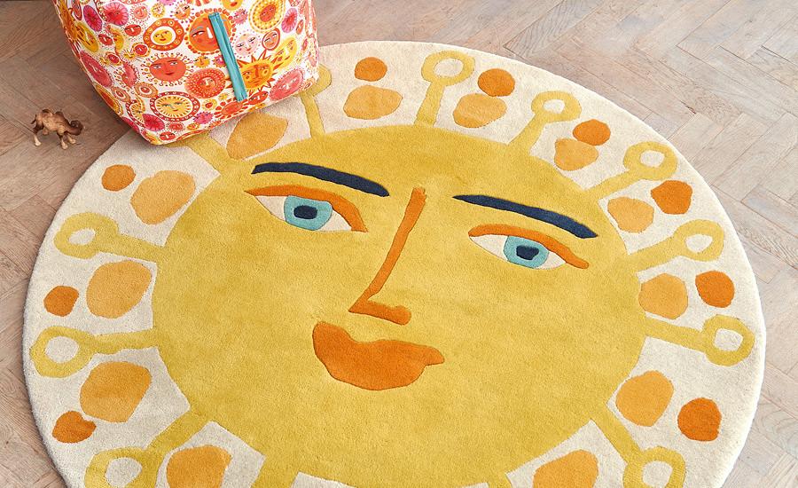 Tappeto per bambini sole giallo Villanova Sundance ambientazione AERREe