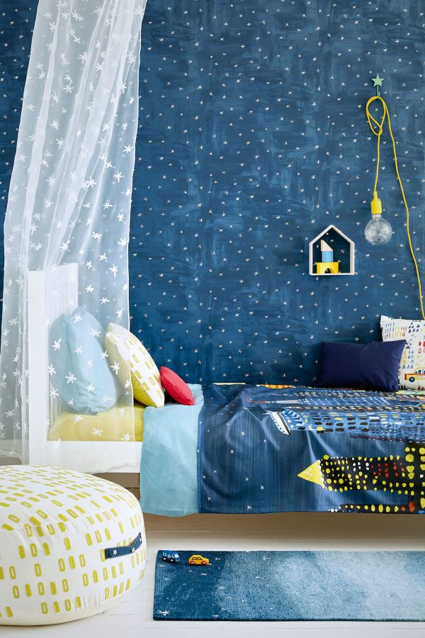 Tappeto per bambini cielo e stelle Villanova Twinkle ambientazione 3 AERREe