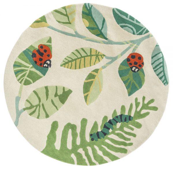 Tappeto per bambini coccinelle Villanova Ladybugs 140x140 cm AERREe
