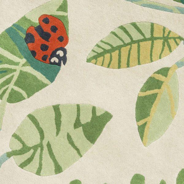 Tappeto per bambini coccinelle Villanova Ladybugs dettaglio AERREe