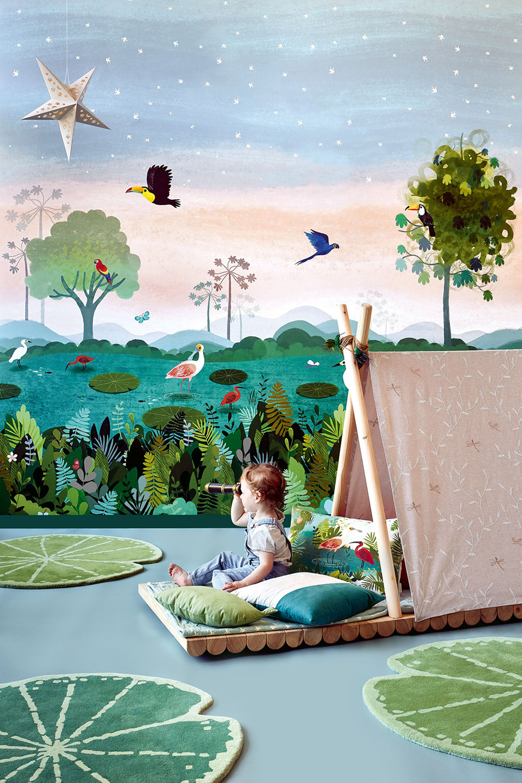 Tappeto per bambini ninfea Villanova Lily Pad ambientazione 1 AERREe