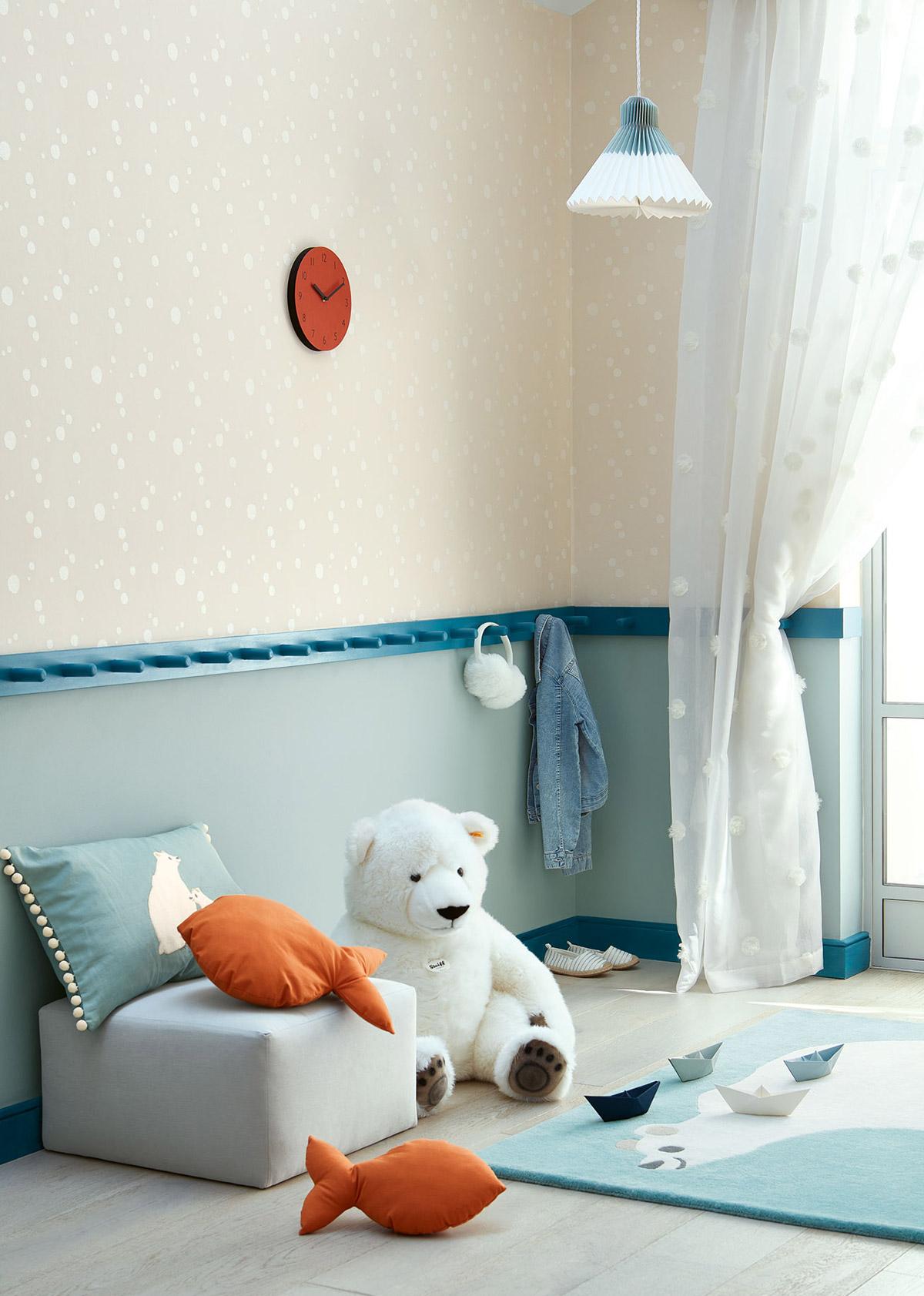 Tappeto per bambini orso polare Villanova Artic Bear ambientazione 4 AERREe