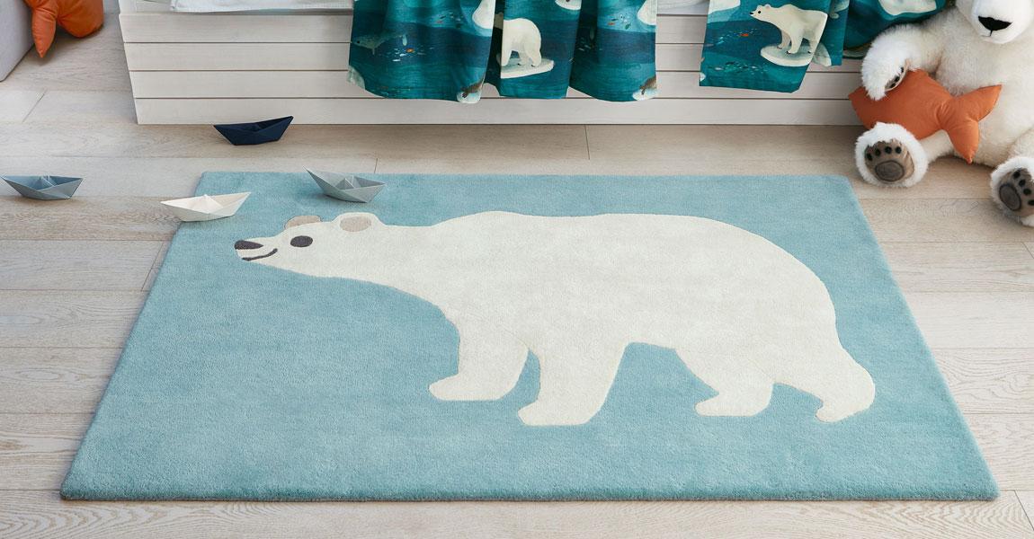 Tappeto per bambini orso polare Villanova Artic Bear ambientazione AERREe