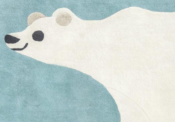 Tappeto per bambini orso polare Villanova Artic Bear dettaglio AERREe