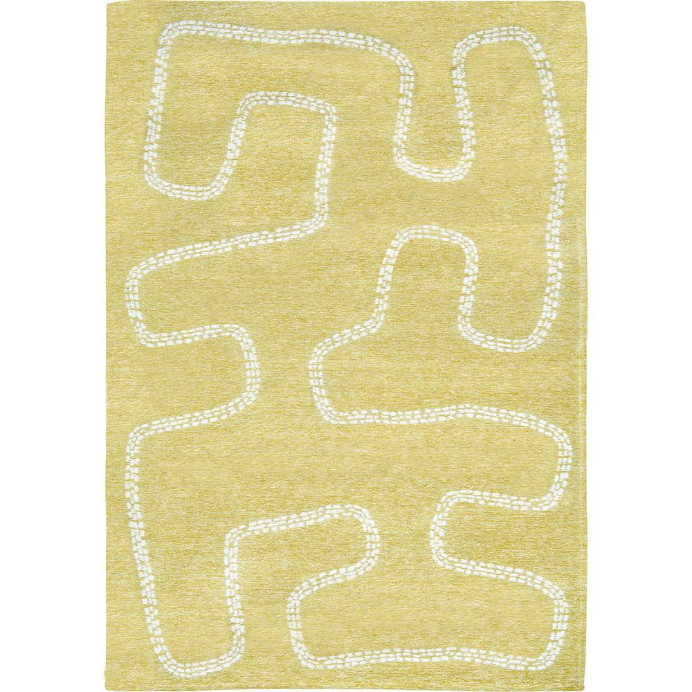 Tappeto per bambini righe bianche Villanova Pitter Patter AERREe giallo piccolo