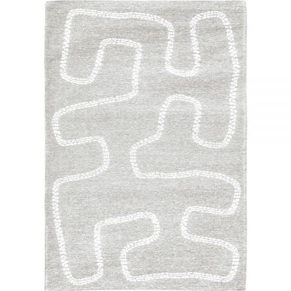 Tappeto per bambini righe bianche Villanova Pitter Patter AERREe grigio grande