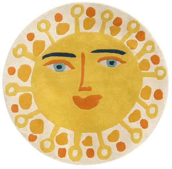 Tappeto per bambini sole giallo Villanova Sundance AERREe