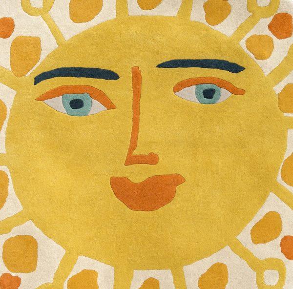 Tappeto per bambini sole giallo Villanova Sundance dettaglio AERREe